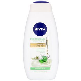 Nivea, Refreshing Body Wash, Fresh Aloe & Lily,  20 fl oz (591 ml)