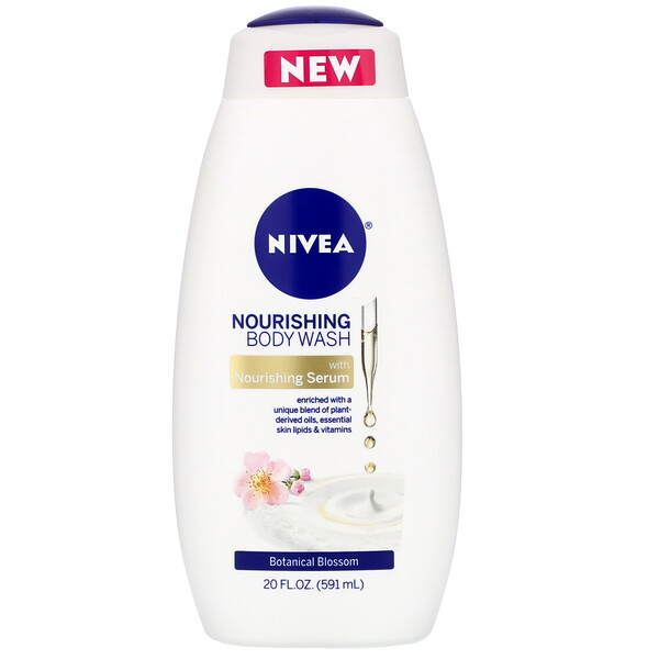 Nivea, Nourishing Body Wash, Botanical Blossom, 20 fl oz (591 ml)