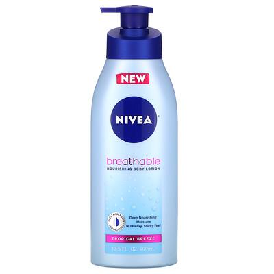 Nivea Breathable Nourishing Body Lotion, Tropical Breeze, 13.5 fl oz (400 ml)
