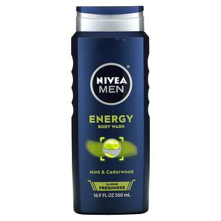 Nivea, Men Body Wash, Energy, Mint & Cedarwood, 16.9 fl oz (500 ml)