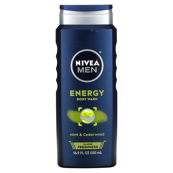 Men 3-in-1 Body Wash, Energy, 16.9 fl oz (500 ml)