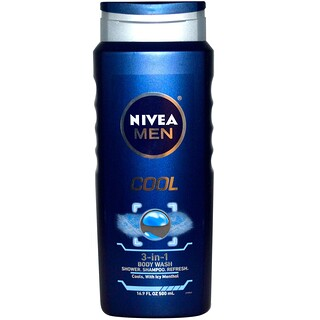 Nivea, 3-in-1 Body Wash, Men, Cool, 16.9 fl oz (500 ml)