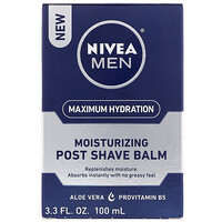 Men, Maximum Hydration, Moisturizing Post Shave Balm, 3.3 fl oz (100 ml) - фото
