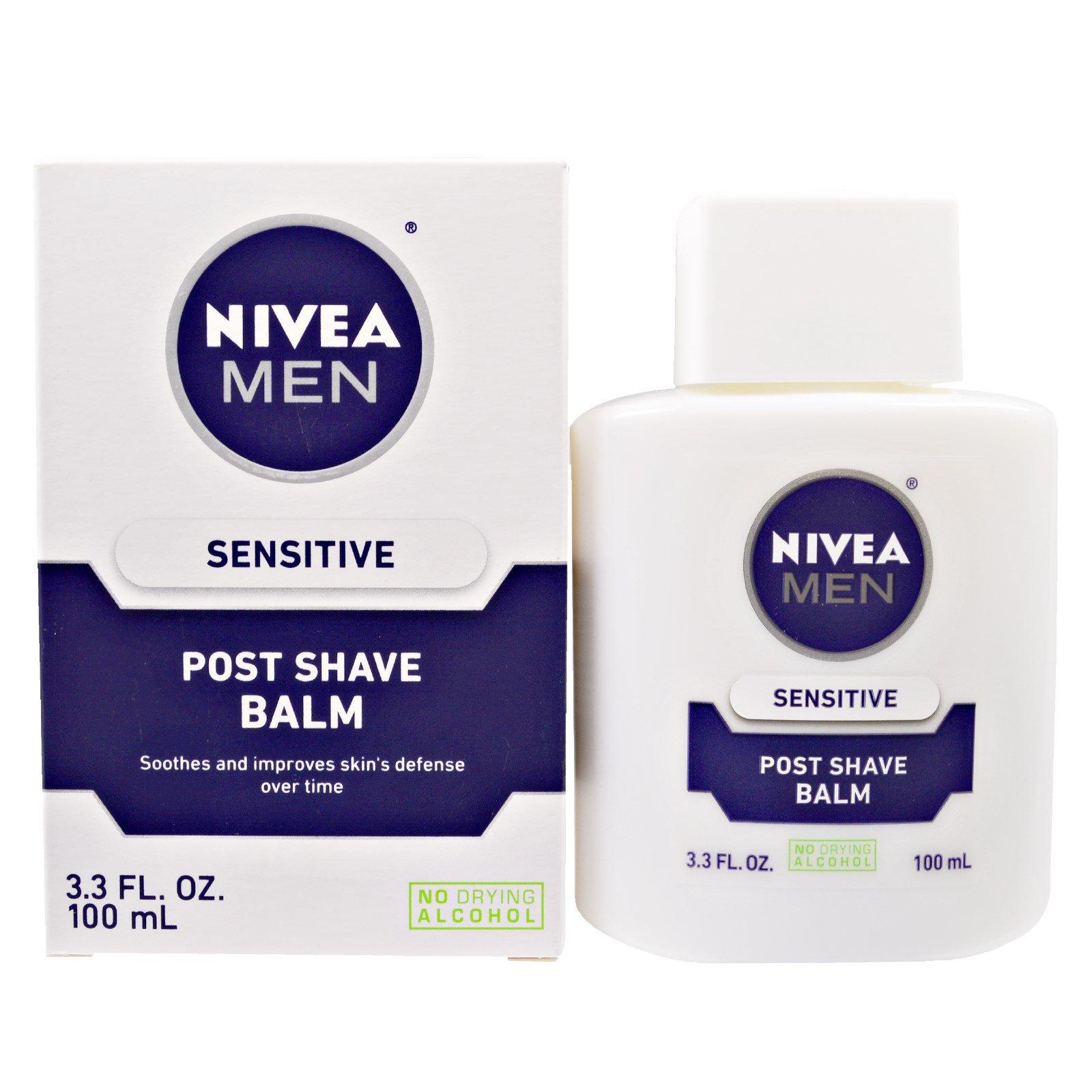 Nivea, Бальзам после бритья для чувствительной кожи, 3,3 жидких унции (100 мл)