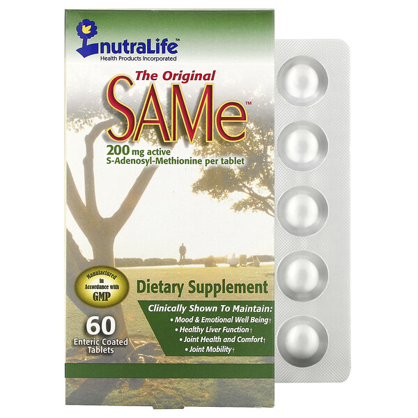 NutraLife, The Original SAMe, 200 mg, 60 Enteric Coated Tablets
