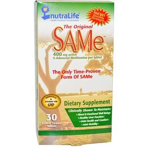 Нутралифе, The Original SAM-e (S-Adenosyl-L-Methionine), 400 mg, 30 Enteric Coated Tablets отзывы покупателей