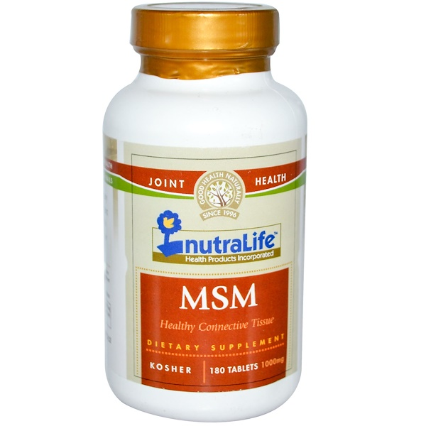 NutraLife, MSM, 1000 mg, 180 Tablets (Discontinued Item)