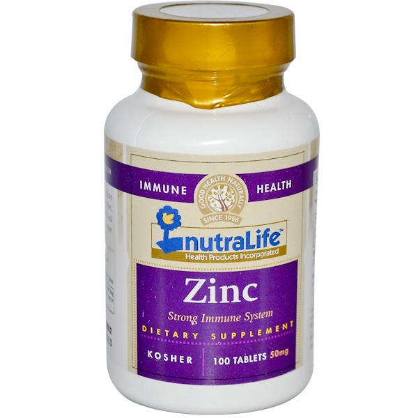 NutraLife, Zinc, 50 mg, 100 Tablets (Discontinued Item)