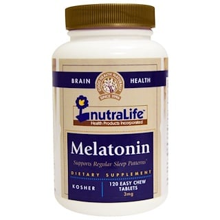 NutraLife, Melatonin, 3 mg, 120 Easy Chew Tablets