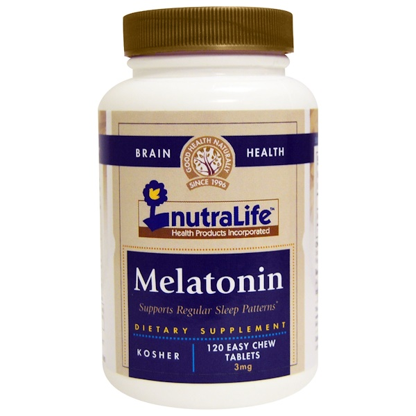 Melatonina, 3 mg, 120 tabletas masticables