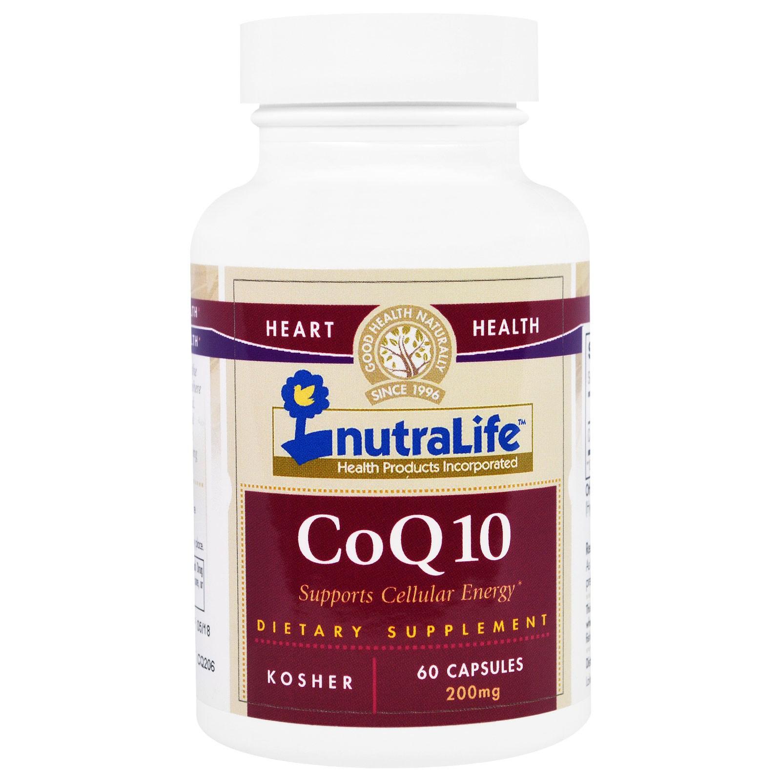 NutraLife, Кофермент Q10, 200 мг, 60 капсул
