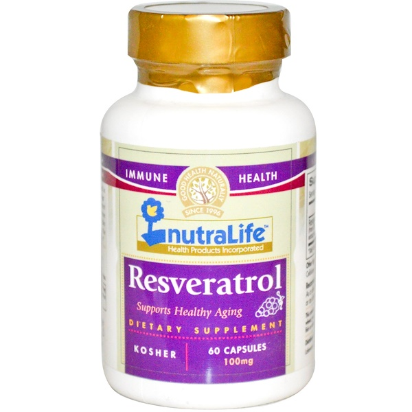 NutraLife, Resveratrol, 100 mg, 60 Capsules (Discontinued Item)