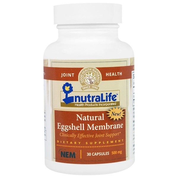 NutraLife, Natural Eggshell Membrane, 500 mg, 30 Capsules (Discontinued Item)