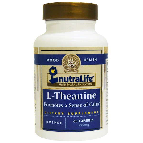 NutraLife, L-Theanine, 200 mg, 60 Capsules