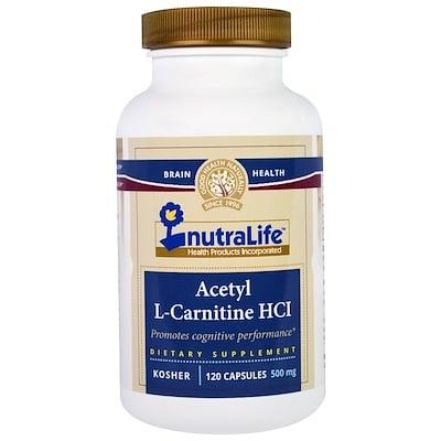Ацетил-L-карнитина гидрохлорид, 500 мг, 120 капсул n a c n ацетил l цистеин 500 мг 100 вегетерианских капсул