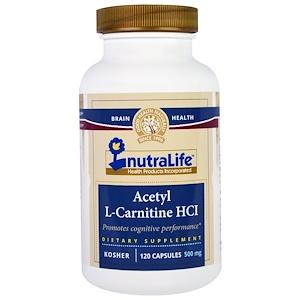 Нутралифе, Acetyl L-Carnitine HCI, 500 mg, 120 Capsules отзывы покупателей