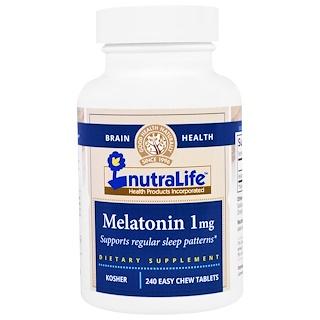 NutraLife, Melatonin, 1 mg, 240 Easy Chew Tablets