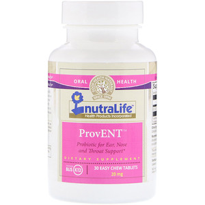 NutraLife, ブリスK12入りプロヴェント、20 mg、飲みやすいチュウタブレット30錠