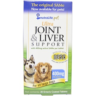 NutraLife, Pet, Ultra Joint & Liver Support, 400 mg, 30 Enteric Coated Tablets