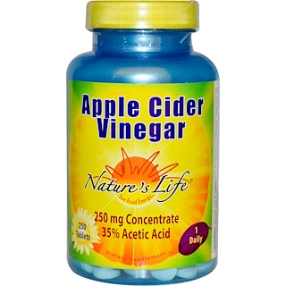Nature's Life, Apple Cider Vinegar, 250 mg, 250 Tablets