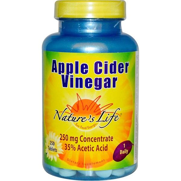 Nature's Life, 蘋果醋,250毫克,250片