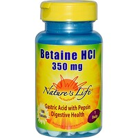 Betaine HCI, 350 mg, 100 Tablets - фото