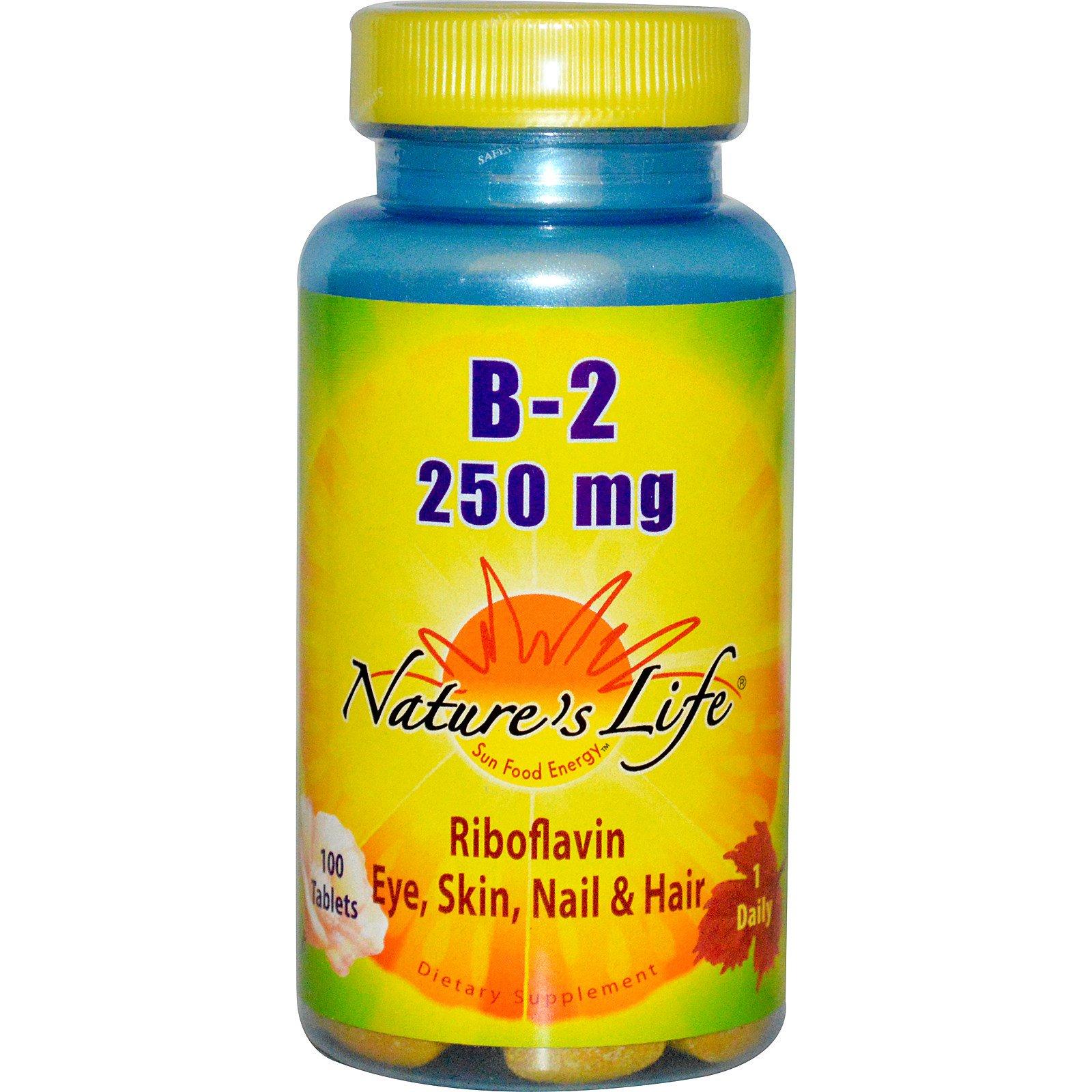 Nature's Life, Рибофлавин B-2, 100 таблеток