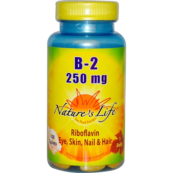 Nature's Life, B-2 Riboflavin, 250 mg, 100 Tablets (Discontinued Item)
