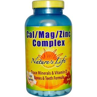 Nature's Life, カル / マグ / 亜鉛 コンプレックス、250 錠