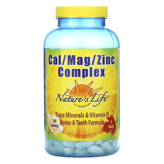 Nature's Life, Cal / Mag / Zinc Complex, 250 Tablets