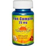 Отзывы о Nature's Life, Iron Complex, 25 мг, 50 вегетарианских капсул
