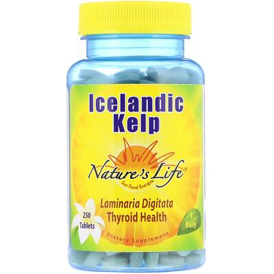 Купить Nature's Life Исландская бурая водоросль, 250 таблеток