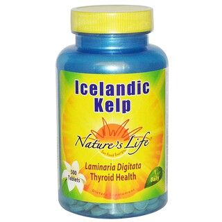 Nature's Life, Icelandic Kelp, 500 Tablets