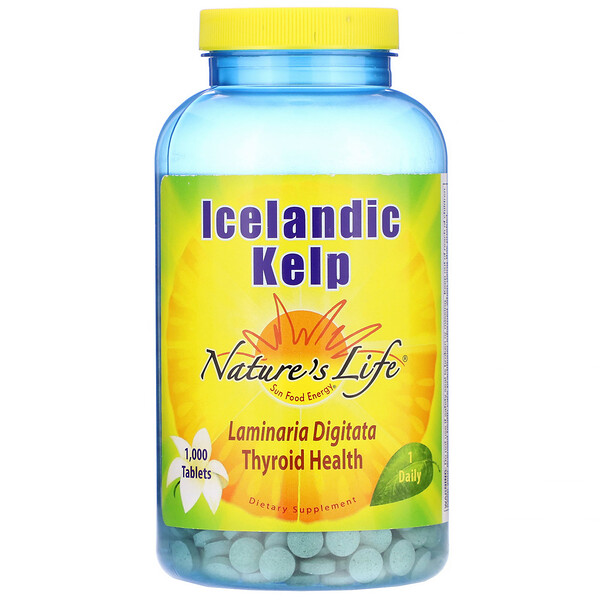 Nature's Life, Icelandic Kelp, 1,000 Tablets