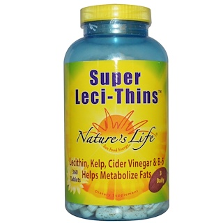 Nature's Life, Super Leci-Thins, 360 Tablets