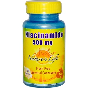 Натурес Лифе, Niacinamide, 500 mg, 100 Tablets отзывы