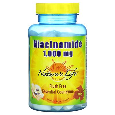 Nature's Life Niacinamide, 1,000 mg, 100 Tablets