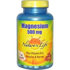 Nature's Life, Magnésium, 500 mg, 100 Capsules
