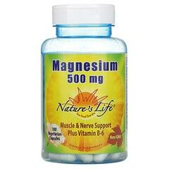 Nature's Life, 鎂,500 毫克,100 粒素食膠囊