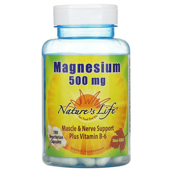 Magnesium, 500 mg, 100 Vegetarian Capsules