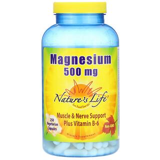Nature's Life, Magnesium, 500 mg, 250 Vegetarian Capsules