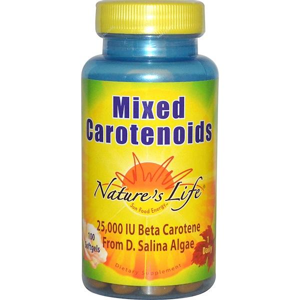 Nature's Life, Смесь каротиноидов, 100 гелевых капсул (Discontinued Item)