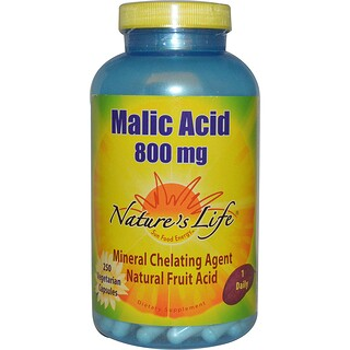 Nature's Life, Malic Acid, 800 mg, 250 Veggie Caps