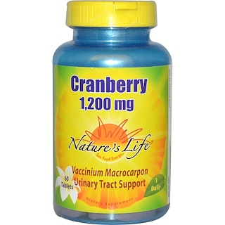 Nature's Life, Cranberry, 1,200 mg, 60 Tablets
