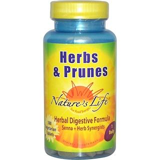 Nature's Life, Herbs & Prunes, 100 Veggie Tabs