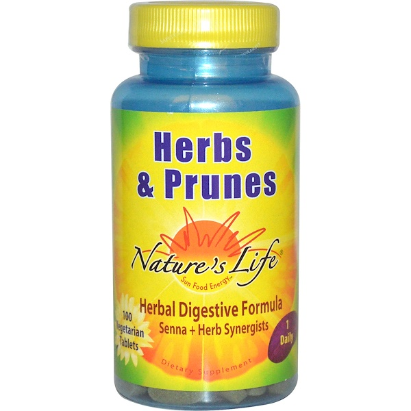 Nature's Life, Herbs & Prunes, 100 Veggie Tabs (Discontinued Item)