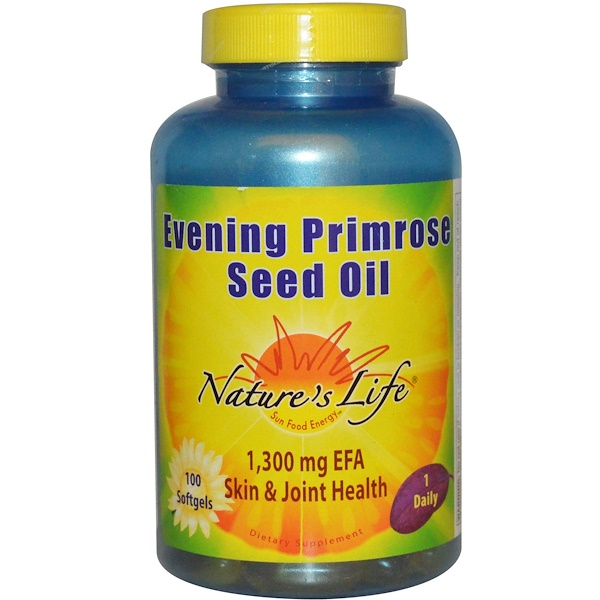 Nature's Life, Evening Primrose Seed Oil, 100 Softgels (Discontinued Item)