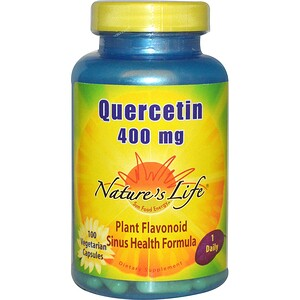 Натурес Лифе, Quercetin, 400 mg, 100 Veggie Caps отзывы покупателей