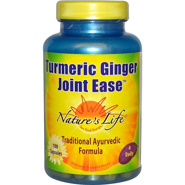 Nature's Life, Turmeric Ginger Joint Ease,100粒
