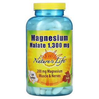 Nature's Life, Magnesium Malate, 1,300 mg, 250 Capsules